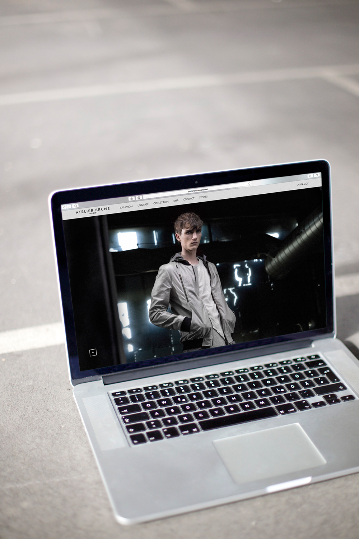 Atelier Brume Paris - Website, Digitalkonzept, Digital Design und Development für französisches Modelabel von ELLIJOT – Desktop Version