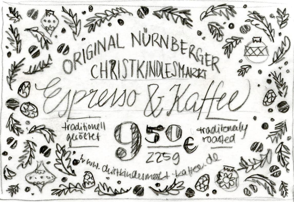 Scribble Preistafeln Christkindlesmarkt Nürnberg