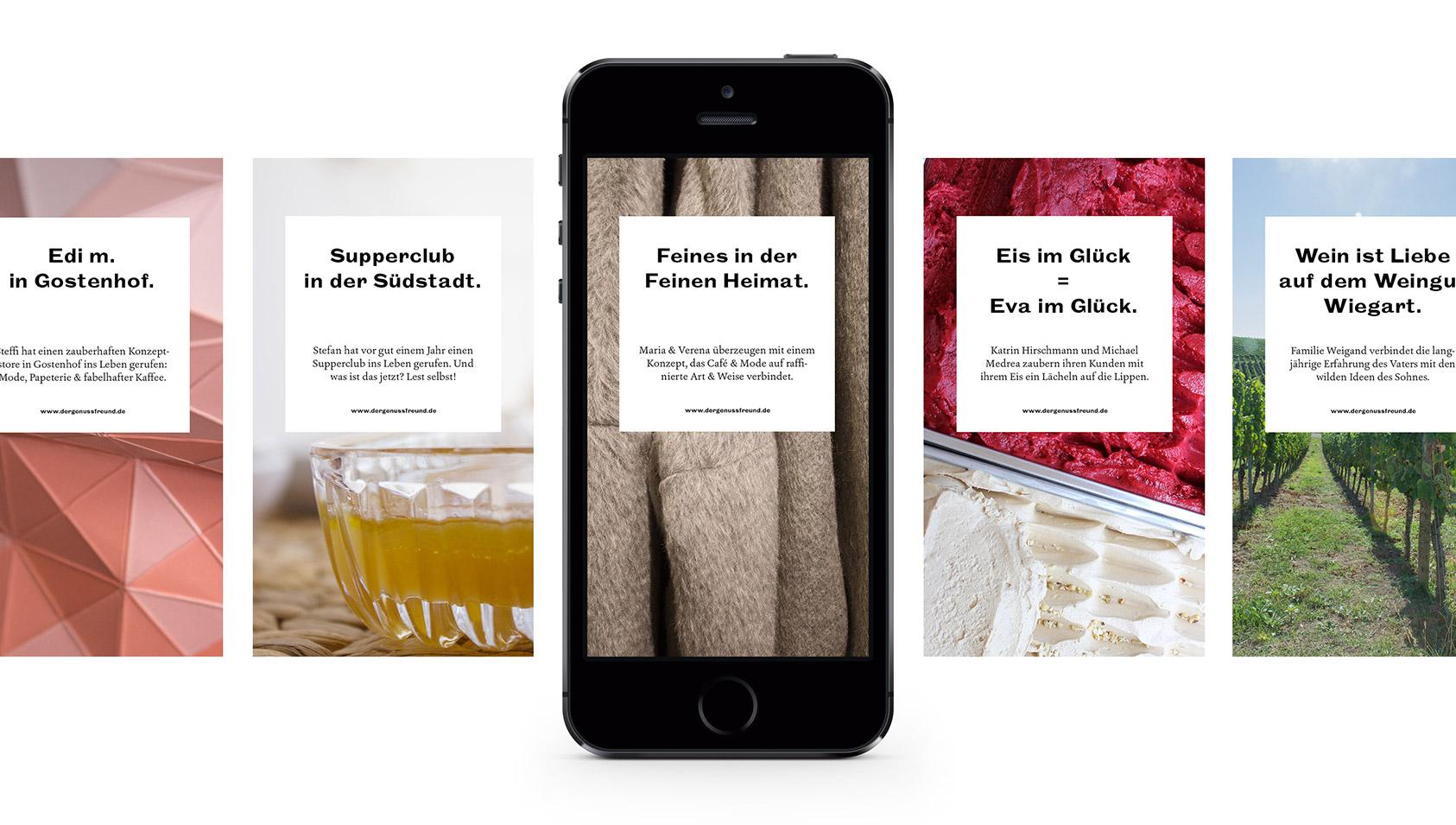 Der Genussfreund – Onlineshop und -blog für regionale Lebensmittel, Logolettering, Corporate Design, Illustration, Webdesign von ELLIJOT – Blog Intropicture Template