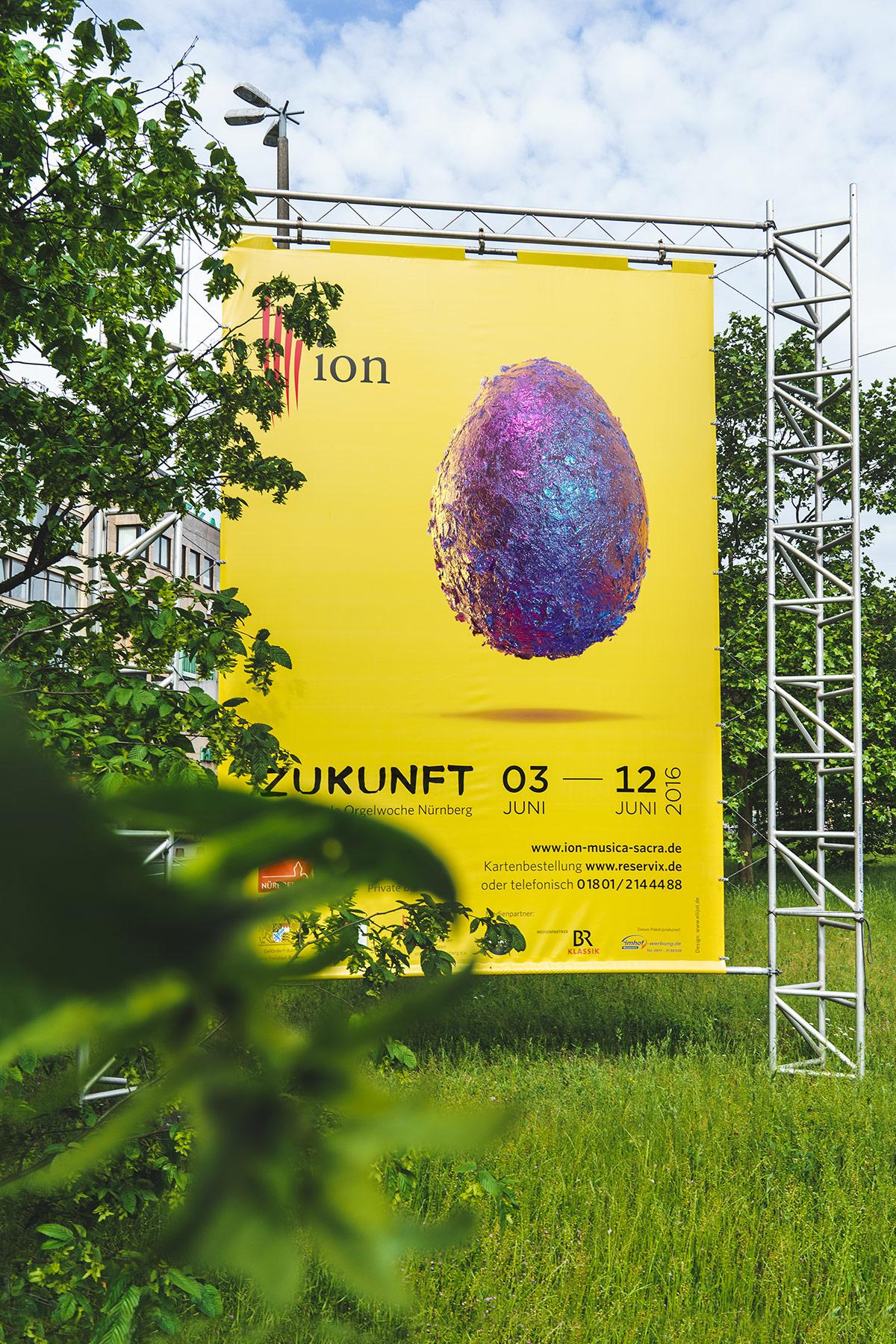 Internationale Orgelwoche Nürnberg – Festival für Klassische und Geistliche Musik. Festivalkampagne, Logolettering, Key Visual, Corporate Design von ELLIJOT, Key Visual von EyeCandy Berlin