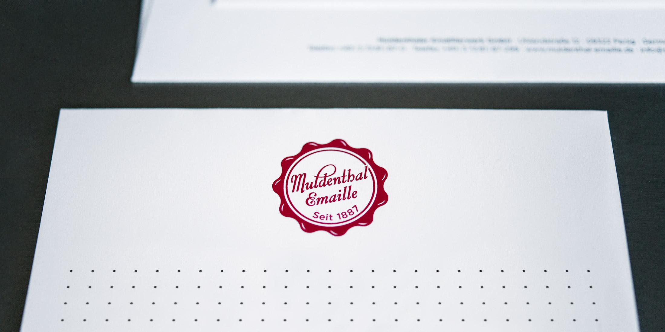 Muldenthaler Emaillierwerke GmbH – Logo-Relaunch, Corporate Design, Corporate Publishing von ELLIJOT