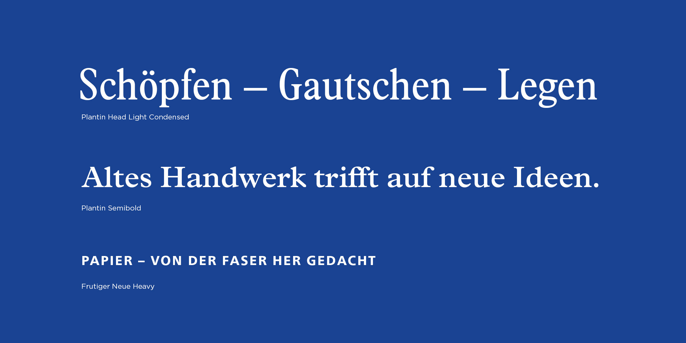 Papieroffizin Matthias Schwethelm – Logo-Relaunch, Corporate Design, Hausschrift von ELLIJOT